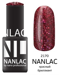 "NANLAC NL 2170 Красный бриллиант, 6 мл. - гель-лак ""Металлик"" Nano Professional"