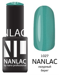 "NANLAC NL 1027 Лазурный берег, 6 мл. - гель-лак ""Мерцающая эмаль"" Nano Professional"
