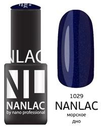 """NANLAC NL 1029 Морское дно, 6 мл. - гель-лак """"Мерцающая эмаль"""" Nano Professional"""