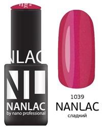 """NANLAC NL 1039 Сладкий, 6 мл. - гель-лак """"Мерцающая эмаль"""" Nano Professional"""