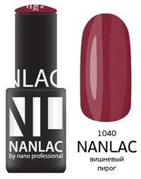 """NANLAC NL 1040 Вишневый пирог, 6 мл. - гель-лак """"Мерцающая эмаль"""" Nano Professional"""