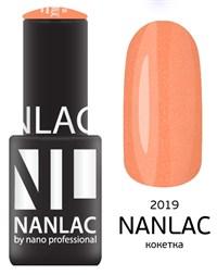 """NANLAC NL 2019 Кокетка, 6 мл. - гель-лак """"Мерцающая эмаль"""" Nano Professional"""