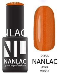 """NANLAC NL 2056 Алые паруса, 6 мл. - гель-лак """"Мерцающая эмаль"""" Nano Professional"""
