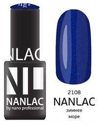 """NANLAC NL 2108 Зимнее море, 6 мл. - гель-лак """"Мерцающая эмаль"""" Nano Professional"""
