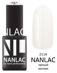 "NANLAC NL 2114 Пряный жасмин, 6 мл. - гель-лак ""Мерцающая эмаль"" Nano Professional"