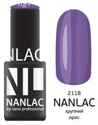 "NANLAC NL 2118 Хрупкий ирис, 6 мл. - гель-лак ""Мерцающая эмаль"" Nano Professional"