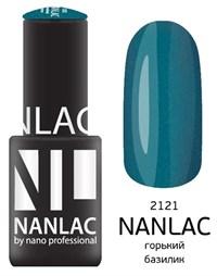 """NANLAC NL 2121 Горький базилик, 6 мл. - гель-лак """"Мерцающая эмаль"""" Nano Professional"""