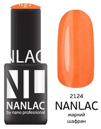 "NANLAC NL 2124 Жаркий шафран, 6 мл. - гель-лак ""Мерцающая эмаль"" Nano Professional"