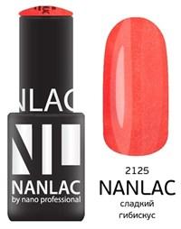 """NANLAC NL 2125 Сладкий гибискус, 6 мл. - гель-лак """"Мерцающая эмаль"""" Nano Professional"""