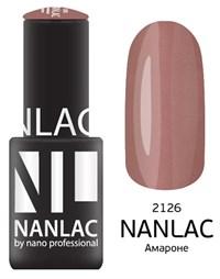 """NANLAC NL 2126 Амароне, 6 мл. - гель-лак """"Мерцающая эмаль"""" Nano Professional"""