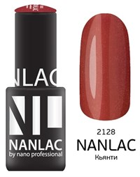 "NANLAC NL 2128 Кьянти, 6 мл. - гель-лак ""Мерцающая эмаль"" Nano Professional"