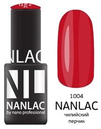 """NANLAC NL 1004 Чилийский перчик, 6 мл. - гель-лак """"Эмаль"""" Nano Professional"""