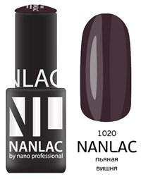 "NANLAC NL 1020 Пьяная вишня, 6 мл. - гель-лак ""Эмаль"" Nano Professional"
