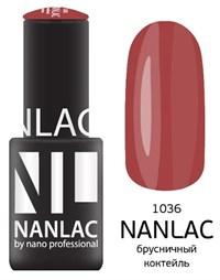 """NANLAC NL 1036 Брусничный коктейль, 6 мл. - гель-лак """"Эмаль"""" Nano Professional"""