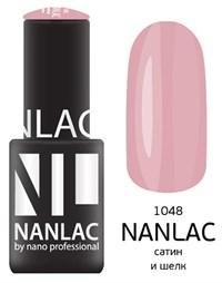 "NANLAC NL 1048 Сатин и шелк, 6 мл. - гель-лак ""Эмаль"" Nano Professional"