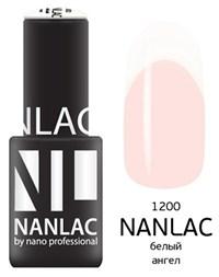 "NANLAC NL 1200 Белый ангел, 6 мл. - гель-лак ""Эмаль"" Nano Professional"