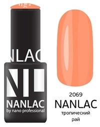 """NANLAC NL 2069 Тропический рай, 6 мл. - гель-лак """"Эмаль"""" Nano Professional"""