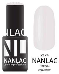 """NANLAC NL 2174 Чистый эндорфин, 6 мл. - гель-лак """"Эмаль"""" Nano Professional"""