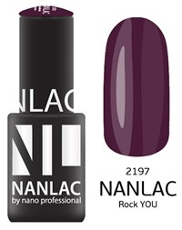 "NANLAC NL 2197 Rock YOU, 6 мл. - гель-лак ""Эмаль"" Nano Professional"
