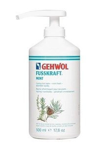 Gehwol Fusskraft Mint, 500 мл. - освежающий, охлаждающий бальзам с мятой и эфирными маслами