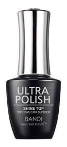 BANDI Ultra Polish Shine Top Coat, 14 мл. - топ для лака Банди Ультра полиш