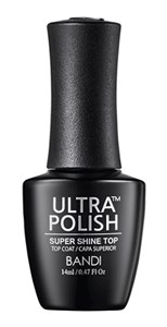 BANDI Ultra Polish Super Shine Top Coat, 14 мл. - топ для лака с супер-глянцем Банди Ультра полиш