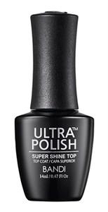 BANDI Ultra Polish Super Shine Top Coat, 14 мл. - топ для лака с супер-глянцем Банди Ультра полиш
