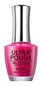 """BANDI Ultra Polish UP105 Notorious Pink, 14 мл. - ультра-покрытие с эффектом геля, лак Банди """"Пресловутый Розовый"""""""
