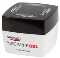 SuperNail Pure White Gel, 14 г. - ультра белый конструирующий гель для френча
