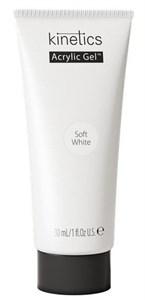 Kinetics Acrylic Gel Soft White PolyGel, 30 мл. - белый полигель для наращивания ногтей Кинетикс