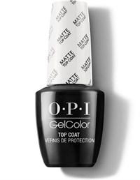 OPI GelColor Matte Top Coat, 15мл. - топ для гель лака матовый GelColor