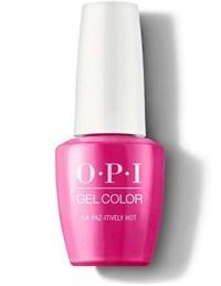 "OPI GelColor ProHealth La Paz-itively Hot, 15мл. - гель лак OPI ""В Ла Пас горячо"""