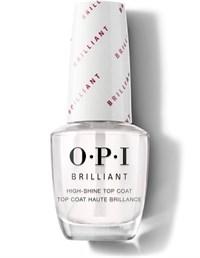 NTT37 OPI Brilliant Top Coat, 15 мл. - верхнее покрытие с бриллиантовым блеском