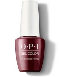 "GCW52A OPI GelColor ProHealth Got the Blues for Red, 15 мл. - гель лак OPI ""Красный блюз"""