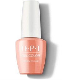 "GCW59A OPI GelColor ProHealth Freedom of Peach, 15 мл. - гель лак OPI ""Свобода персика"""