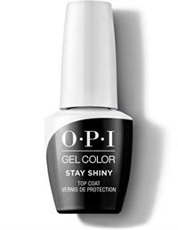 OPI GelColor Stay Shiny Top Coat , 15 мл. - топ для гель лака классический