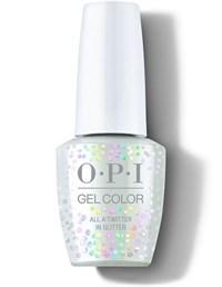"OPI GelColor ProHealth All A'twitter In Glitter, 15 мл. - гель лак OPI ""Весь твиттер в блёстках"""