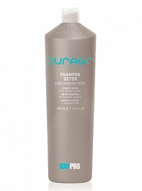 KAYPRO Purage Shampoo Detox, 1000 мл. - шампунь очищающий с чёрным углём