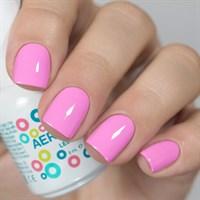 Aeropuffing LED Gel Polish №036, 8 мл. - цветной гель лак #036 Аэропуффинг, розовый