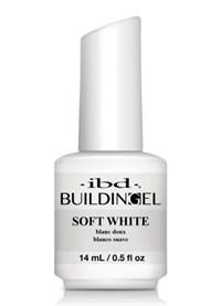 IBD LED/UV Building Gel Soft White, 14 мл. - структурный белый гель с кисточкой