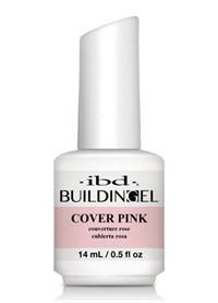IBD LED/UV Building Gel Cover Pink, 14 мл. - структурный камуфлирующий розовый гель с кисточкой