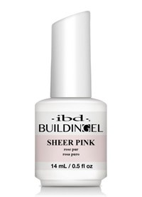 IBD LED/UV Building Gel Sheer Pink, 14 мл. - структурный розовый гель с кисточкой