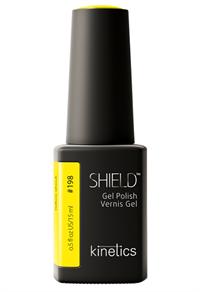 "Kinetics Shield Gel Polish Yellow Shock, 15 мл. - гель лак Кинетикс №198 ""Жёлтый шок"""
