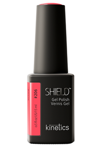 "Kinetics Shield Gel Polish So Coral, 15 мл. - гель лак Кинетикс №206 ""Очень коралловый"""