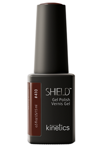 "Kinetics Shield Gel Polish Alluring Brown, 15 мл. - гель лак Кинетикс №410 ""Чарующий коричневый"""