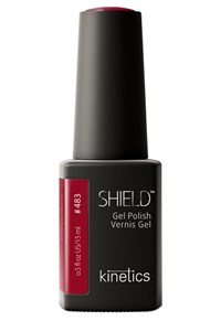 "Kinetics Shield Gel Polish Crimson Queen, 15 мл. - гель лак Кинетикс №483 ""Алая королева"""