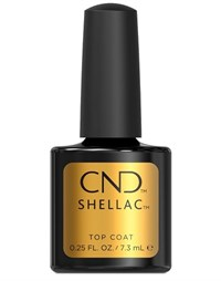 Верхнее покрытие CND Shellac UV Top Coat, 7,3 мл. для гель лака