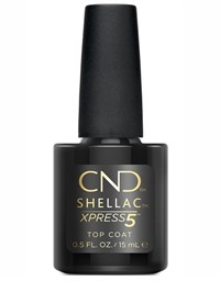 Верхнее покрытие CND Shellac Xpress 5 Top Coat, 15 мл. топ для гель лака