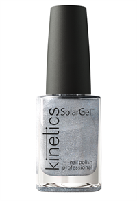 "Лак для ногтей Kinetics SolarGel #487 Silver Lining, 15 мл. ""Серебряная обивка"""