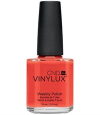 CND VINYLUX #112 Electric Orange,15 мл.- лак для ногтей Винилюкс №112